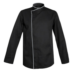 TOKYO black long sleeve kimono collar chef jacket with CYOU customization