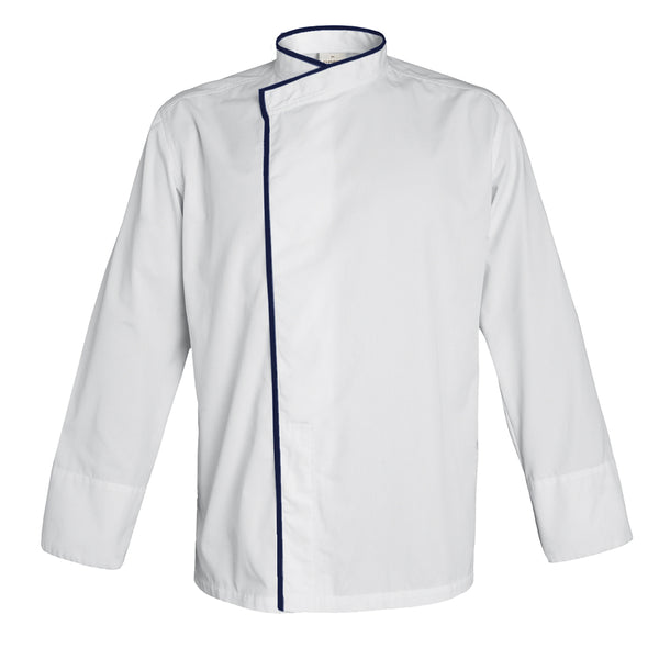 TOKYO white long sleeve kimono collar chef jacket with CYOU customization