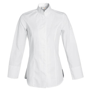 VALENCIA fitted women's stylish white chef jacket