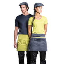 multi-color waiter and waitress service apron