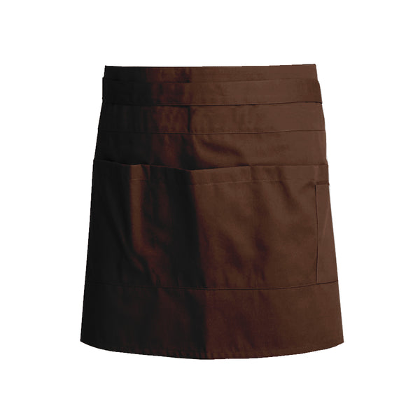 unisex service apron chocolate colored WASABI