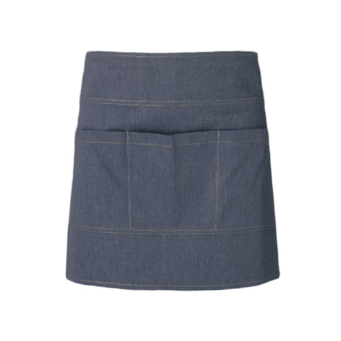 modern style denim waiter and waitress apron with pockets