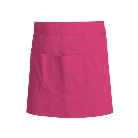 Fuschia colored unisex service apron
