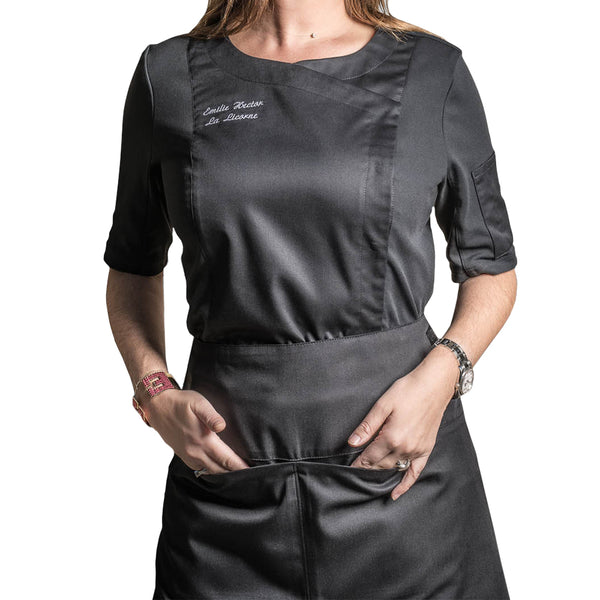 wok waist apron with front pockets