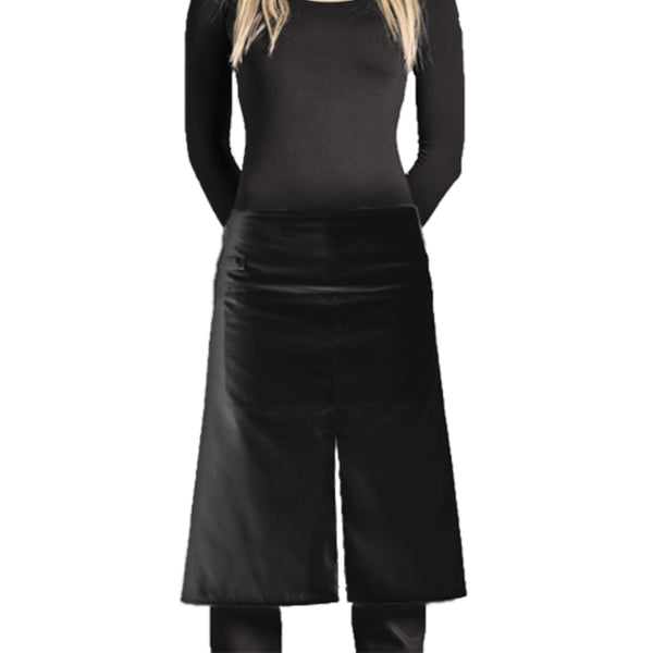 polycotton mid slit chef apron from clement design