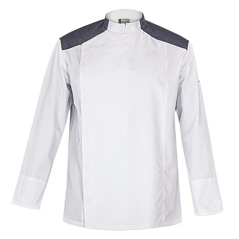 YALE white modern style chef jacket for men
