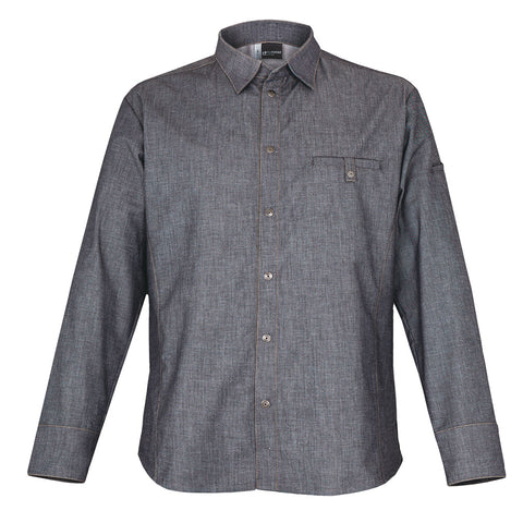 YUMA denim long sleeve chef jacket