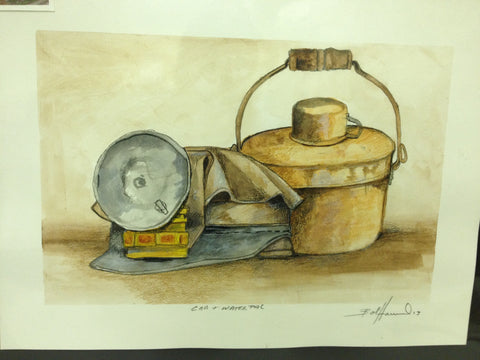 Cap & Water Pail by Bob Howard