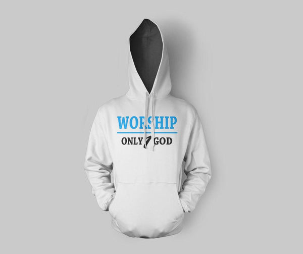 Worship Only 1 God Hoodie - GetDawah Muslim Clothing