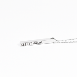 Keep It Halal Bar Necklace - ON CLEARANCE - GetDawah Muslim Clothing