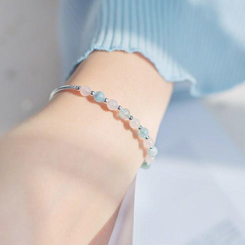 Charming Silver Multi Colour Crystal Bracelet AlifJewellery