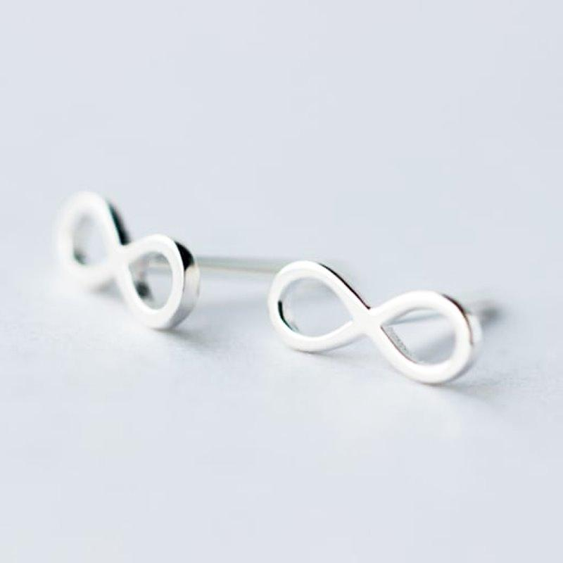 Infinity Stud Earrings - Sterling Silver AlifJewellery