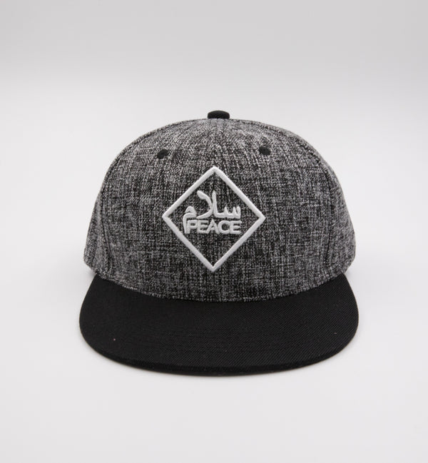 SalamPeace Snapback (3D Embroidery) - CLEARANCE - GetDawah Muslim Clothing