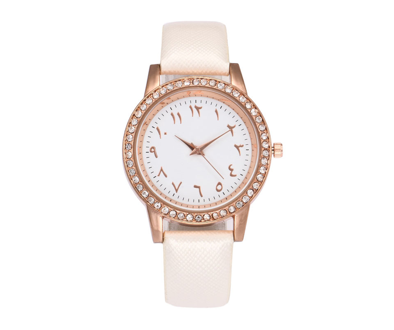 Women's Beautiful White Gold Watch - CLEARANCE SALE - GetDawah Muslim Clothing