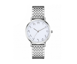 Women Fashion Silver Arabic Watch - CLEARANCE - GetDawah Muslim Clothing
