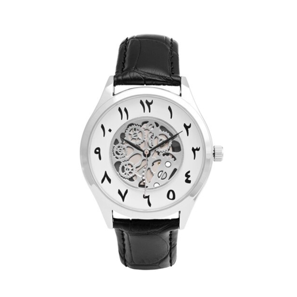 Unisex Antique Black Leather Arabic Watch (New) - GetDawah Muslim Clothing