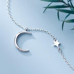 Beautiful Moon & Star Necklace - Sterling Silver AlifJewellery