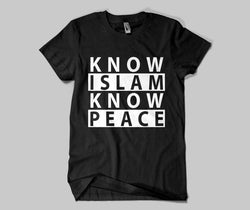 Know Islam Know Peace  T-shirt - GetDawah Muslim Clothing