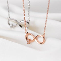 Pretty Infinite Minimalist Necklace - Sterling Silver AlifJewellery