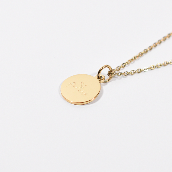 """Salam"" Peace Gold Round Necklace + Gift Box (NEW)"