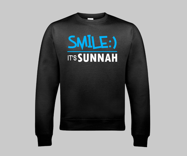 Smile It's Sunnah Sweatshirt - GetDawah Muslim Clothing