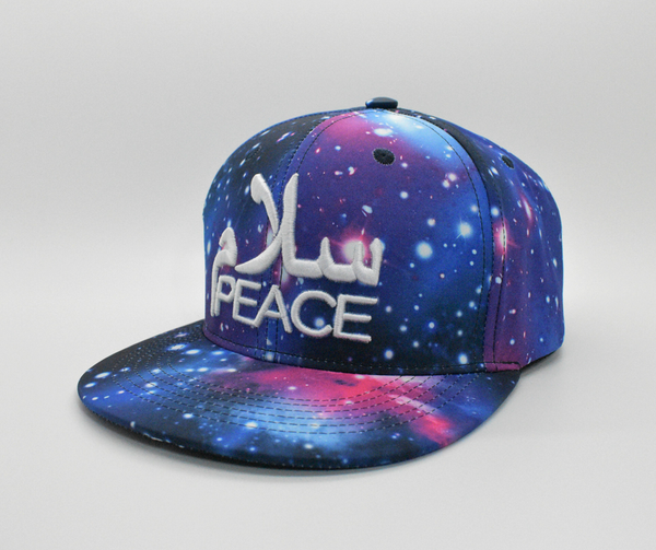 SalamPeace Galaxy Snapback in 3D Embroidery - CLEARANCE - GetDawah Muslim Clothing