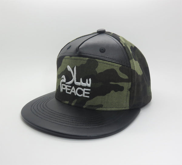 SalamPeace Camo Snapback (3D Embroidery) - CLEARANCE SALE - GetDawah Muslim Clothing