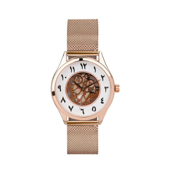 Unisex Antique Rose Gold Mesh Arabic Watch (New) - GetDawah Muslim Clothing