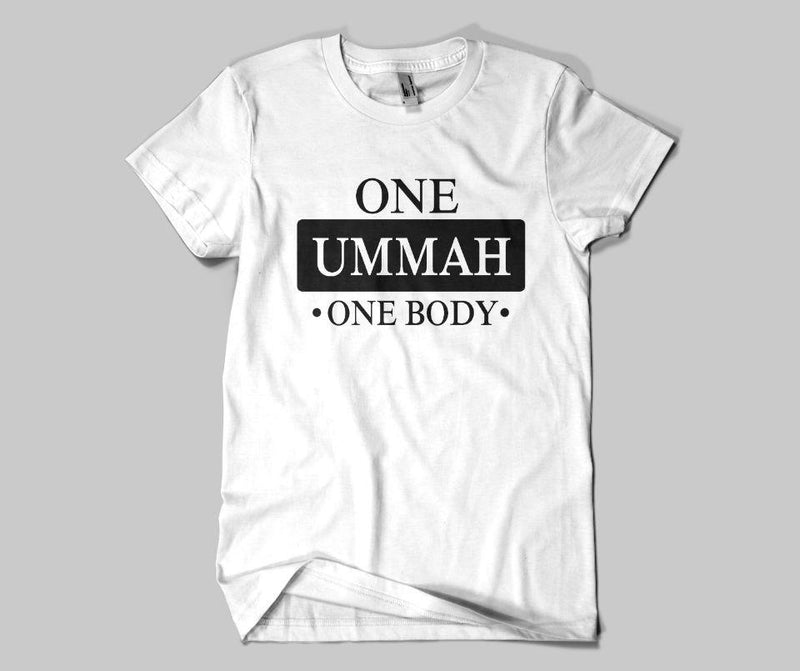 One Ummah One Body T-shirt - GetDawah Muslim Clothing