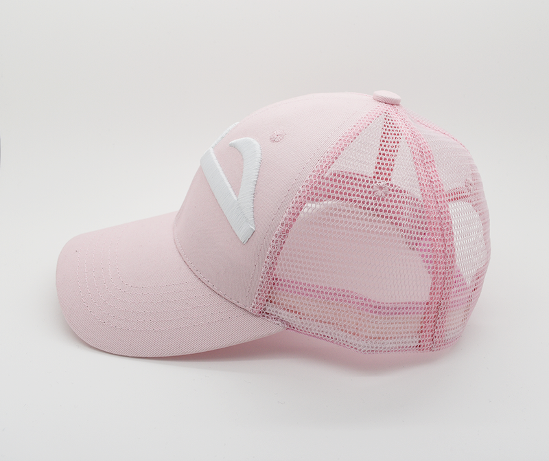 Hub Baby Pink Trucker Cap (3D Embroidery) - GetDawah Muslim Clothing