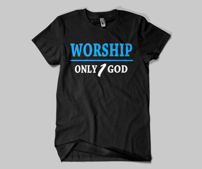 Worship Only 1 God T-shirt - GetDawah Muslim Clothing