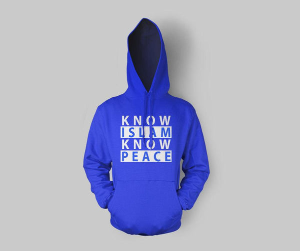 Know Islam Know Peace Hoodie - GetDawah Muslim Clothing