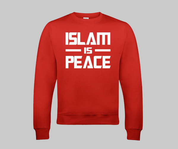 Islam Is Peace Sweatshirt - GetDawah Muslim Clothing