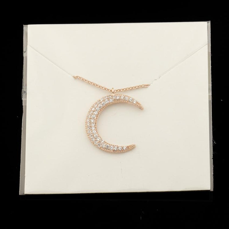 Beautiful Crescent Moon Necklace - GetDawah Muslim Clothing
