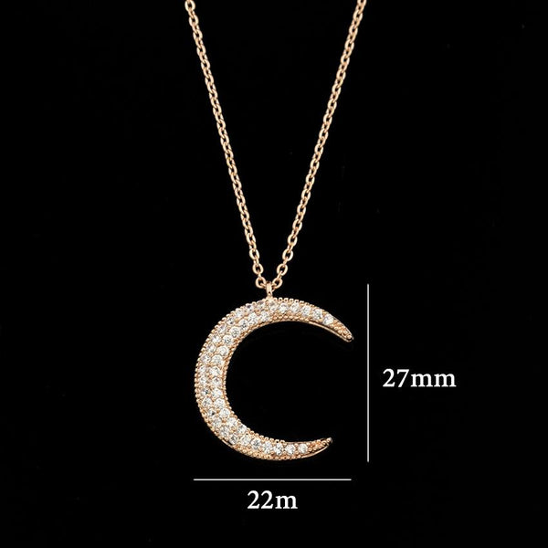 Beautiful Crescent Moon Necklace - CLEARANCE SALE - GetDawah Muslim Clothing