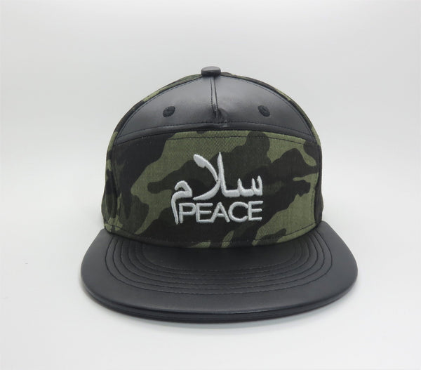 SalamPeace Camo Snapback (3D Embroidery) - CLEARANCE - GetDawah Muslim Clothing