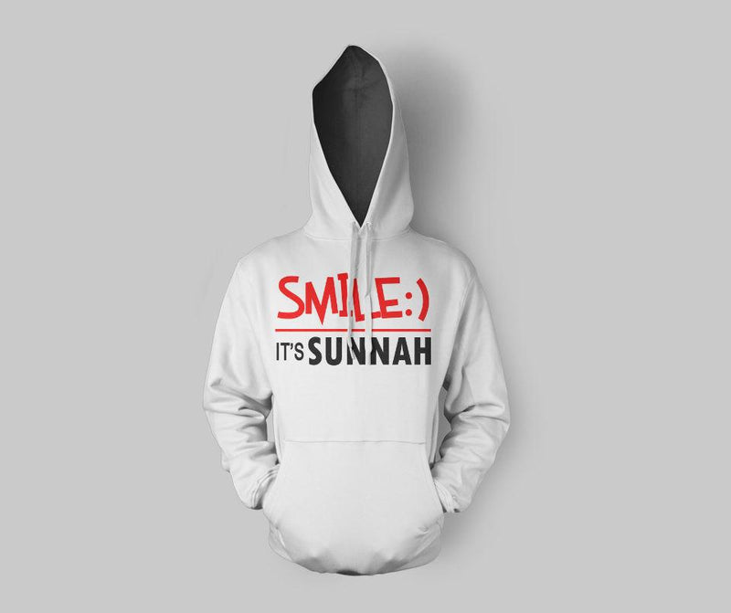 Smile It's Sunnah Hoodie - GetDawah Muslim Clothing