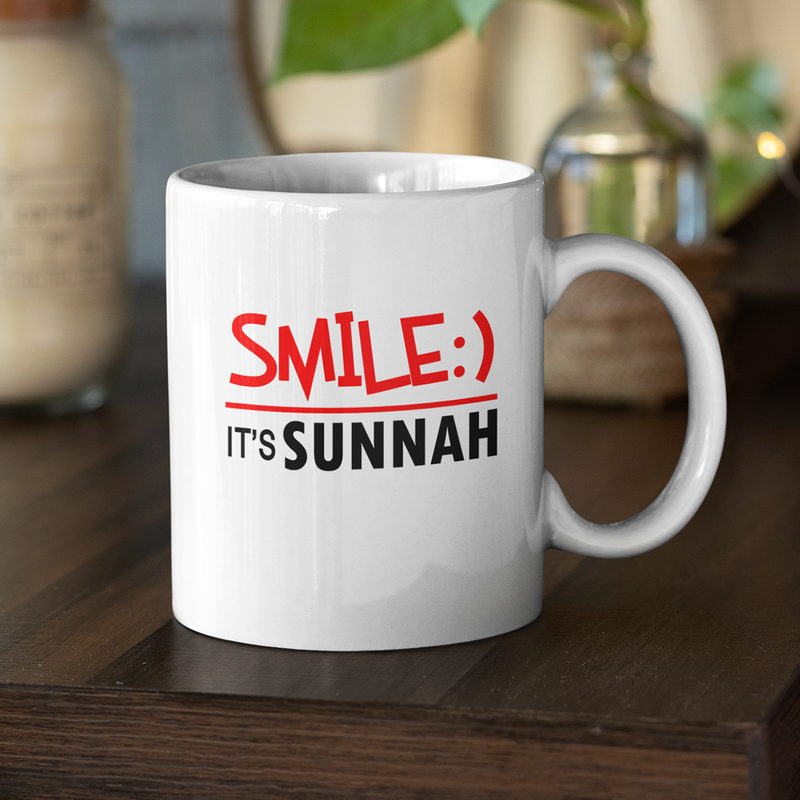 Smile It's Sunnah Mug (NEW) - GetDawah Muslim Clothing