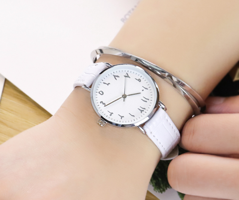 Women White/Silver Arabic Watch (NEW) - GetDawah Muslim Clothing