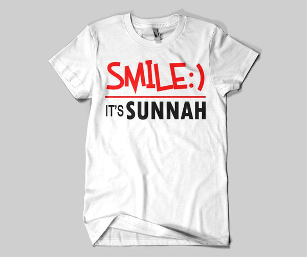 Smile It's Sunnah T-shirt - GetDawah Muslim Clothing