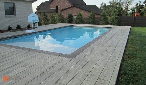 Stamped concrete_pool deck