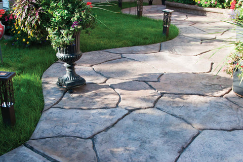 Stamped concrete_cut stone