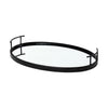 Ansel Black Metal Oval Tray