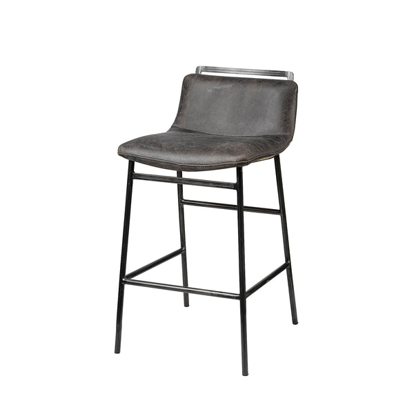 Kavalan Counter + Bar Stool - Ebony Leather Seat