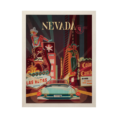 Nevada Vintage Poster Framed Art - 33