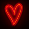 HEART LED NEON WALL LIGHT
