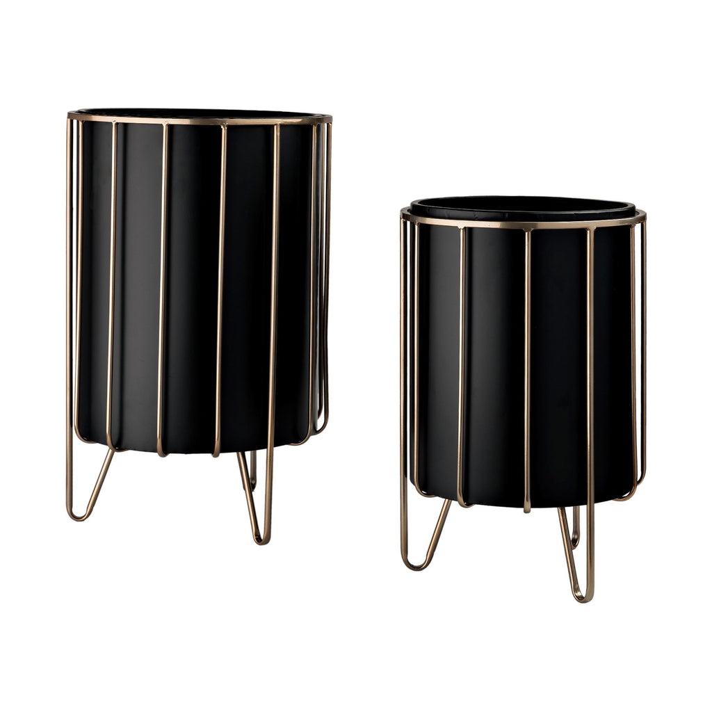 Black Plant Stands (set of 2)