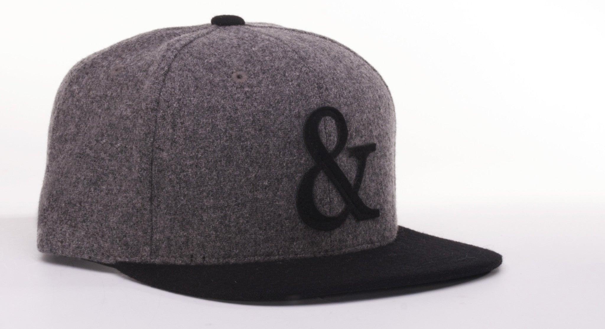 AMPERSAND MELTON WOOL // CHARCOAL & BLACK