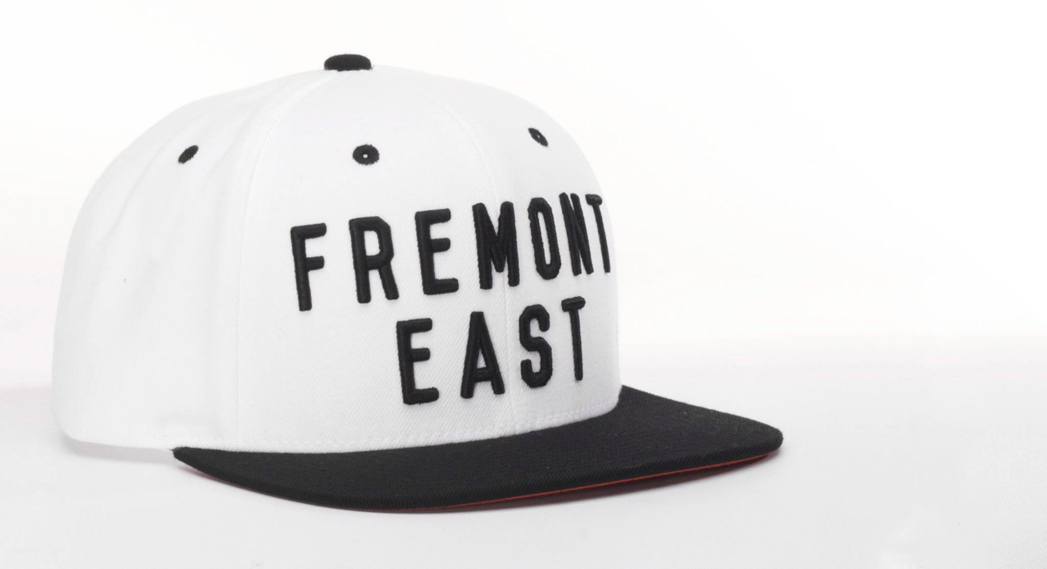 Downtown Fremont East Snapback Hat Black and White
