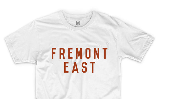 FREMONT EAST TEE // WHITE & RED